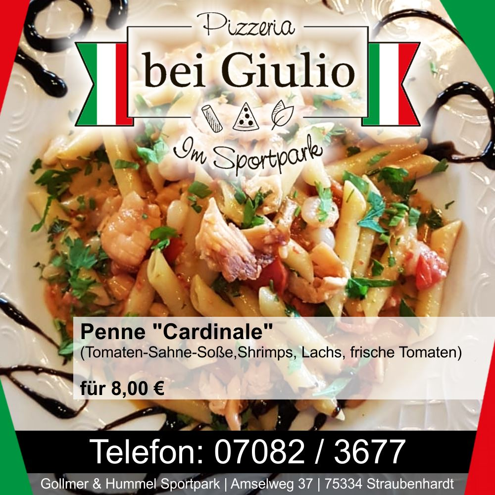 """Tagesessen Penne """"Cardinale"""""""
